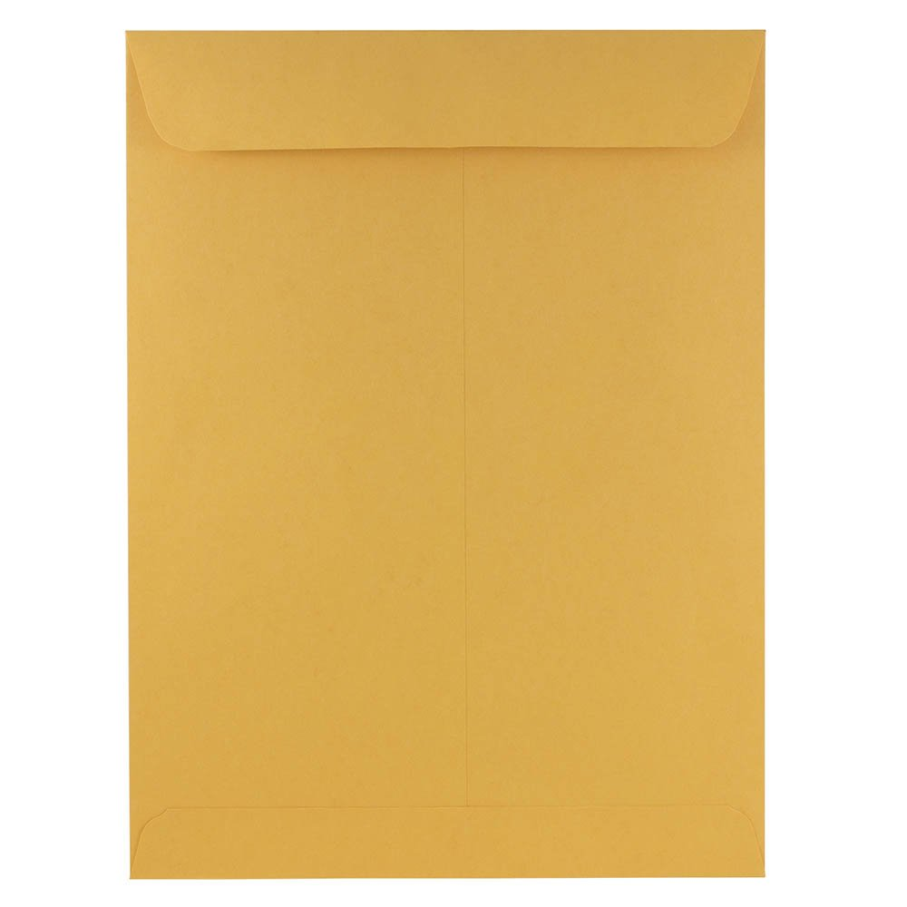 JAM PAPER 9 x 12 Open End Catalog Premium Envelopes - Brown Kraft Manila - 100/Pack