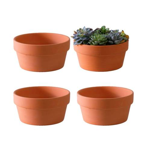 Purple Sand Flower Pot/&Tray Set Square Nursery Planter Bonsai Pot Plant Growing