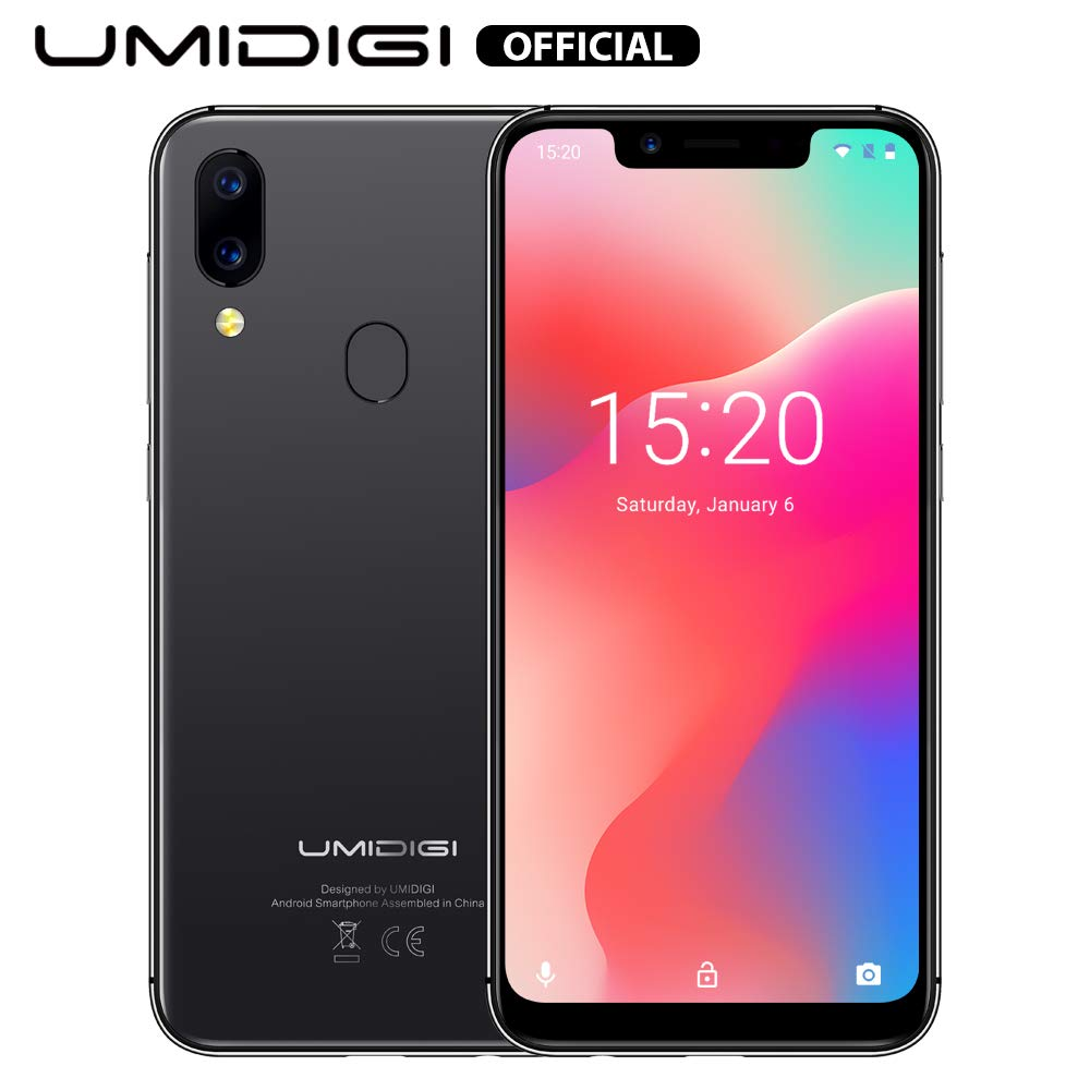 """UMIDIGI A3 Pro Mobile Phone Unlocked Dual 4G Volte Smart Phone 5.7"""" Incell 19:9 Full-Screen Display 3GBRAM+16GB ROM 2+1 Triple Slot Face Unlock 12MP + 5MP Dual Camera Android 9.0[Space Grey]"""
