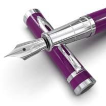 Wordsworth & Black Fountain Pen Set[Velvet Purple]-Medium Nib-Journaling and Calligraphy-Smooth Writing Pens- 6 Free Ink Cartridges & Ink Refill Converter-Luxury Gift-Perfect for Men & Women