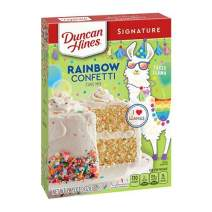 Duncan Hines Signature Perfectly Moist Rainbow Confetti Cake Mix, 12 - 15.25 OZ Boxes
