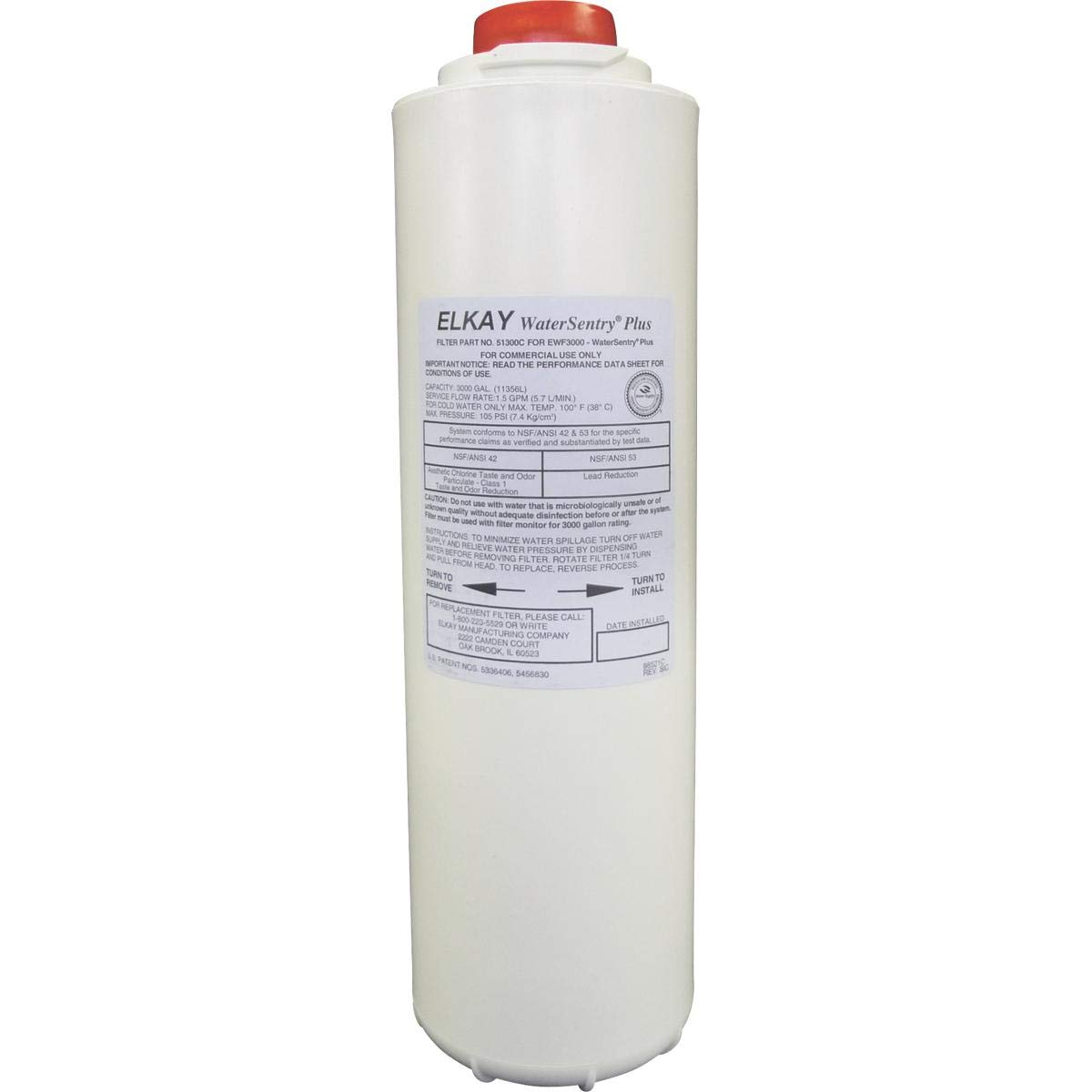Elkay 51300C_2PK WaterSentry Plus Replacement Filter (Bottle Fillers), 2-Pack