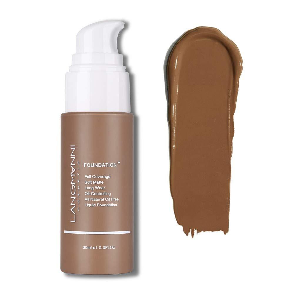 Langmanni Makeup Foundation Liquid Natural Concealer Brighten Skin Color Waterproof Sweatproof cosmetic Concealer (#13 Truffle)