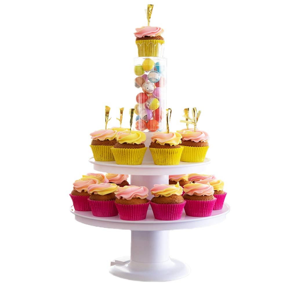 Surprise Cake - 2 in 1 Popping Cake and Cupcake Stand - Pull-Ring Surprise