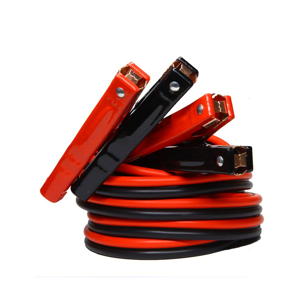 GOHAWKTEQ G5204C 4 Gauge 500A 20 Ft Heavy Duty Jumper Battery Cables Booster Jump Starter Replaces# AA-003-1A