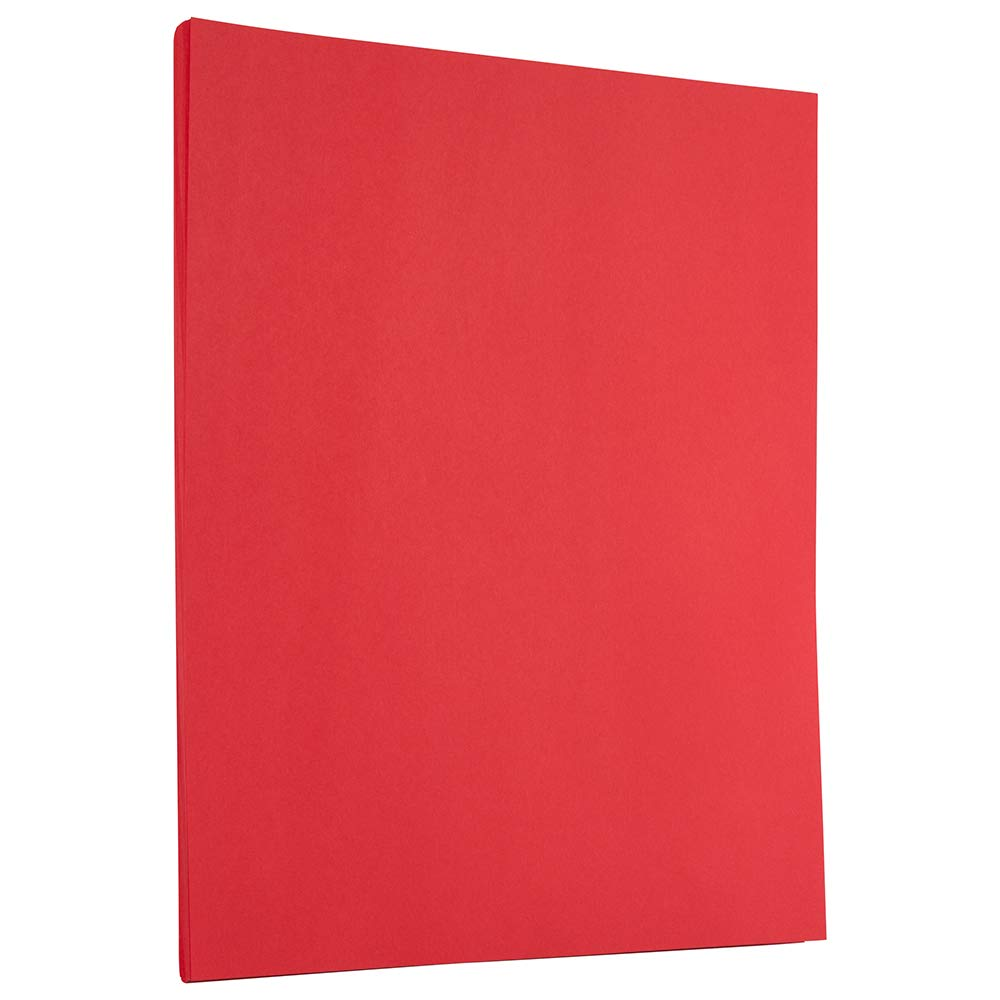 JAM PAPER Colored 24lb Paper - 8.5 x 11 - Red Recycled - 100 Sheets/Pack