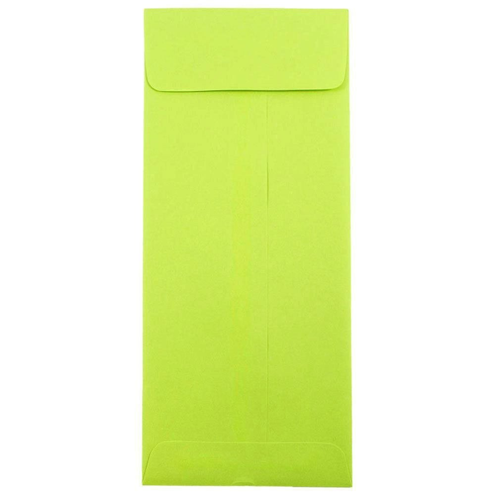 JAM PAPER #12 Policy Business Colored Envelopes - 4 3/4 x 11 - Ultra Lime Green - 50/Pack