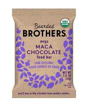 Bearded Brothers Vegan Organic Energy Bar | Gluten Free, Paleo and Whole 30 | Soy Free, Non GMO, Low Glycemic, Packed with Protein, Fiber + Whole Foods | Maca Chocolate | 5 Pack