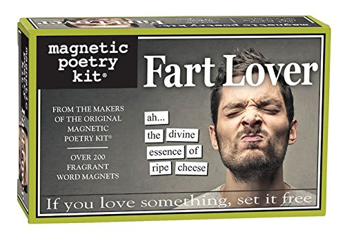 Fart Lover Magnetic Poetry Kit - Words for Refrigerator - Write Poems and Letters on the Fridge - Made in the USA