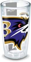 Tervis 1196031 NFL Baltimore Ravens Colossal Wrap Individual Tumbler, 16 oz, Clear