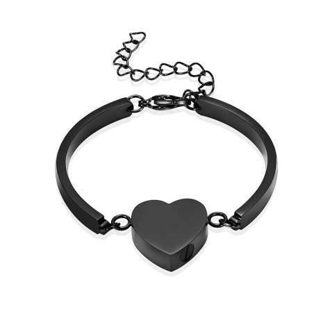 Ashes Bracelet Urn Bracelet for Ashes Memorial Urn Bracelet Silver Heart Urn Silver Cuff Cremation Cuff