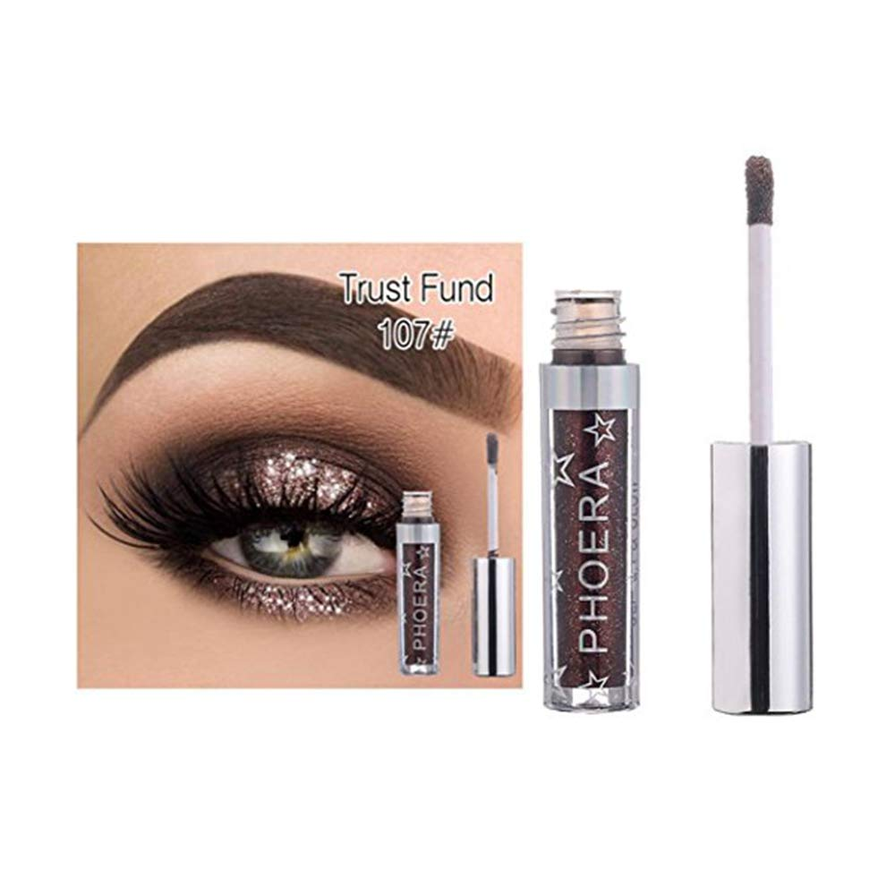 Clearance Promotion 12 Color PHOERA Magnificent Metals Glitter and Glow Liquid Eyeshadow (G)