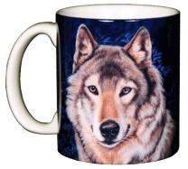 WILD COTTON Lone Wolf 11 Ounce Ceramic Coffee Mug (WC526M)