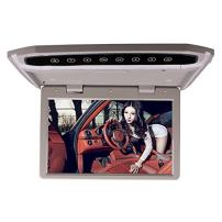 Car Roof Mounted Overhead Flip Down MP4 MP5 Video Audio Multimedia Player LED HD 12.1 Inch Monitor Screen with HDMI SD AV Input 16GB Card + Card Reader Grey Color by HitCar