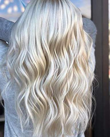 Full Shine Real Hair Clip In Straight Human Hair 10 Inch Clip On Doubel Weft Remy Hair Color 1000 White Blonde Clip Hair For Women 80 Gram 7 Pcs Clips In Hair Extensions