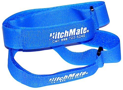 """Heininger HitchMate 4076 QuickCinch Blue 21"""" hook and loop Soft Strap, (Pack of 4)"""