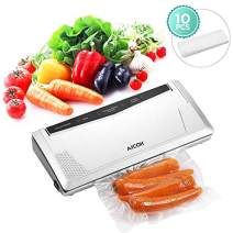 Vacuum Sealer Machine, Aicok 2019 New Version 3 In 1 Automatic Food Saver for Food Preservation and Sous Vide, Upgrade Suction Power and Pulse Function, with Vacuum Seal Bags Starter Kit, Slim Design