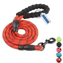 CNNLUG Dog Traction Rope is Soft and Comfortable 4.8 Ft Large Dogs are Available, Reflective Rope Padded Handle Safety is High, Colorful Nylon Rope is Available for Small and Medium Dogs
