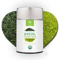 Sencha Loose Leaf Green Tea Mixed with Matcha Powder - Certified Organic - Authentic Japanese Tea