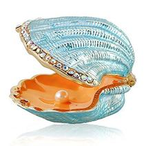 Waltz&F Trinket Box Hinged Seashell Pearl Jewelry Box