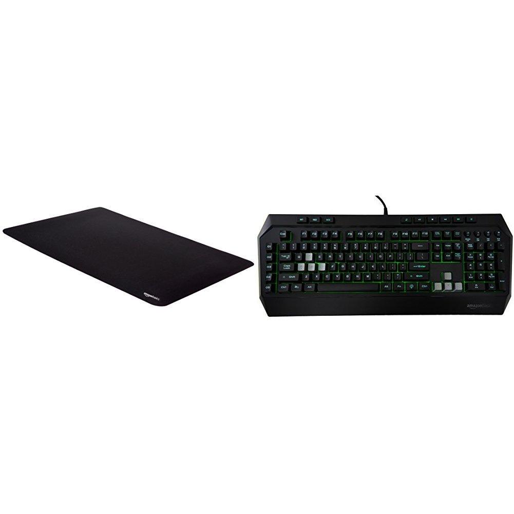 Amazon Basics Gaming Keyboard and Extended Mouse Pad Bundle