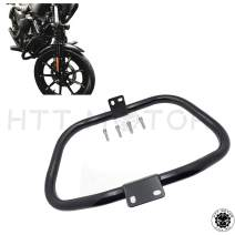 HTTMT Front Crash bar Compatible with 2005-2015 Harley Iron 883 XL883N XL1200N XL1200L 48 XL1200X Sportster Safety Bar Protection Gloss Black [P/N: MT504-001]