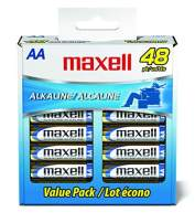 Maxell 723443 Ready-to-go Long Lasting and Reliable Alkaline Battery AA Cell 48-Pack with High Compatibility