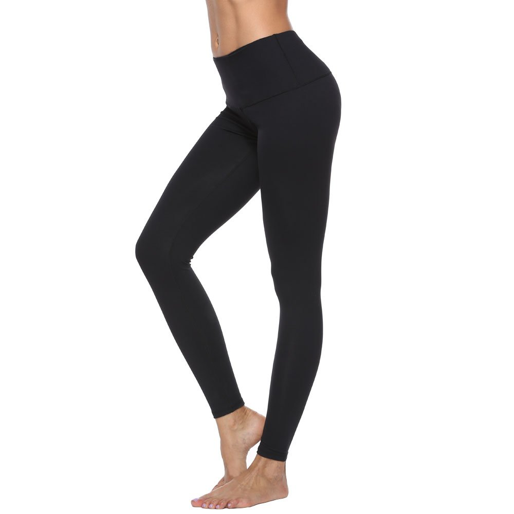 RURING Women's High Waist Yoga Pants Tummy Control Workout Running 4 Way Stretch Yoga Leggings