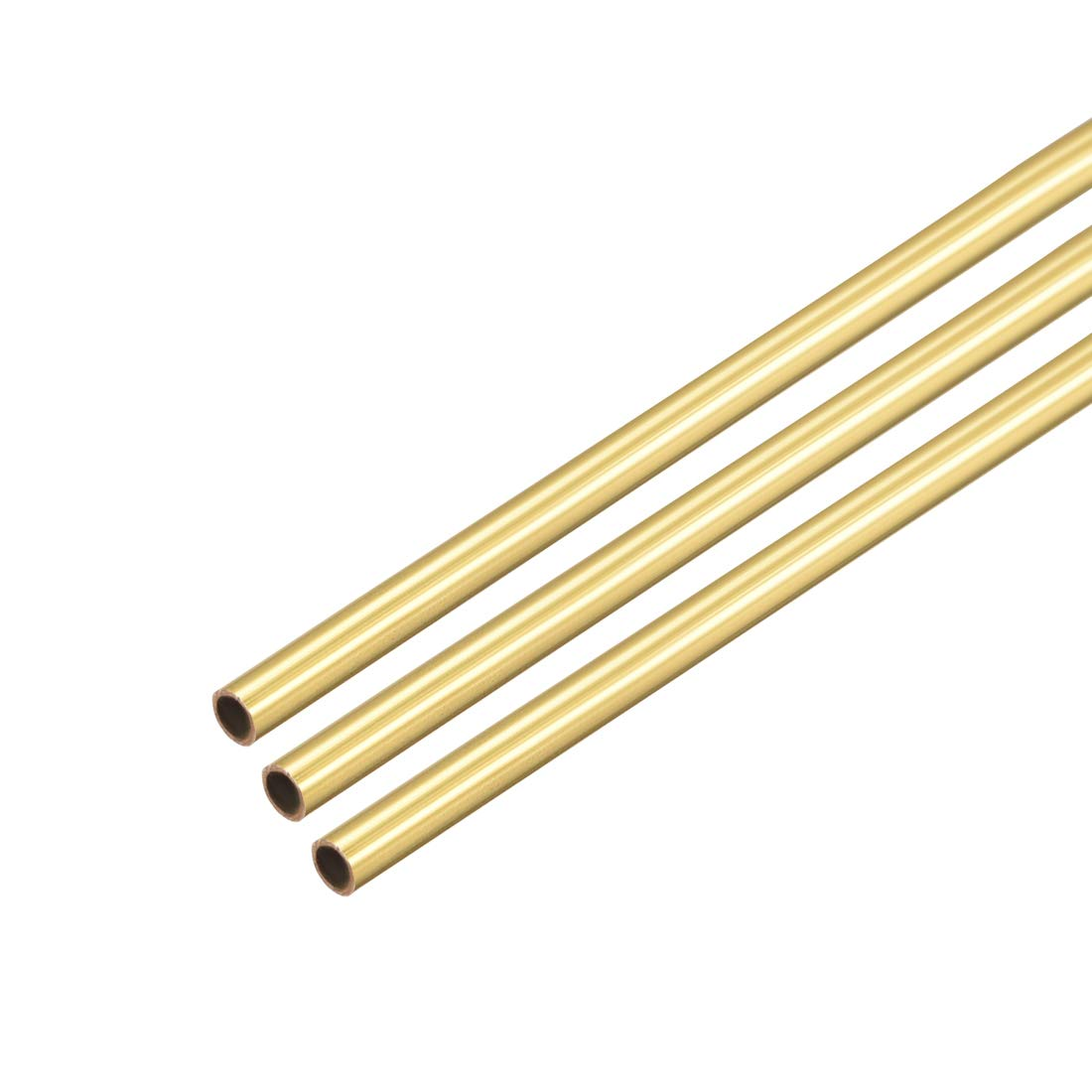 uxcell Brass Round Tube, 300mm Length 1.5mm OD 0.2mm Wall Thickness, Seamless Straight Pipe Tubing 3 Pcs