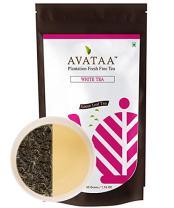 Avataa White Tea - Hand Made Single Plantation Tea, Loaded with Anti Oxidants and Health Benefits (Loose Leaf Tea) (50 Grams / 1.7g Oz / 25 Cups)