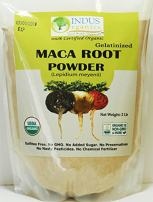 Indus Organics Maca Powder (Mixed), 2 Lb Bag, Gelatanized, Pre-Washed, Premium Quality, Non-gmo, Freshly Packed