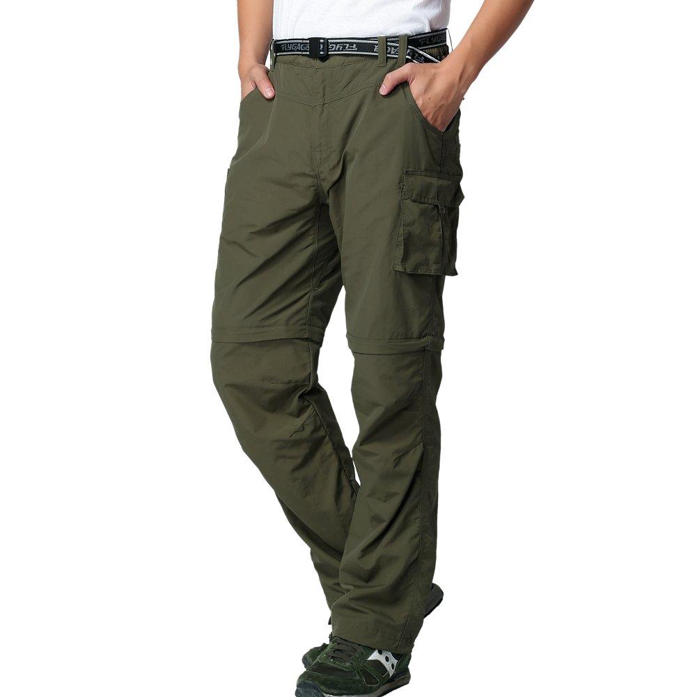 JOMLUN Men's Outdoor Quick Dry Convertible Lightweight Hiking Fishing Zip Off Cargo Work Pant