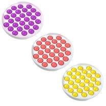 YUT Fidget Toys Push Pop Bubble Fidget Sensory Toy Fidget Toys for Kids Adults Special Needs Anxiety Stress Reliever Durable Silicone Squeeze Sensory Toy Kill Time (N 3PCS)