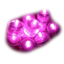 Sokaton Submersible Tea Light Battery Operated Waterproof LED Tealights Underwater Vase Light for Christmas Xmas Holloween Party Wedding Decoration (Pink-24)