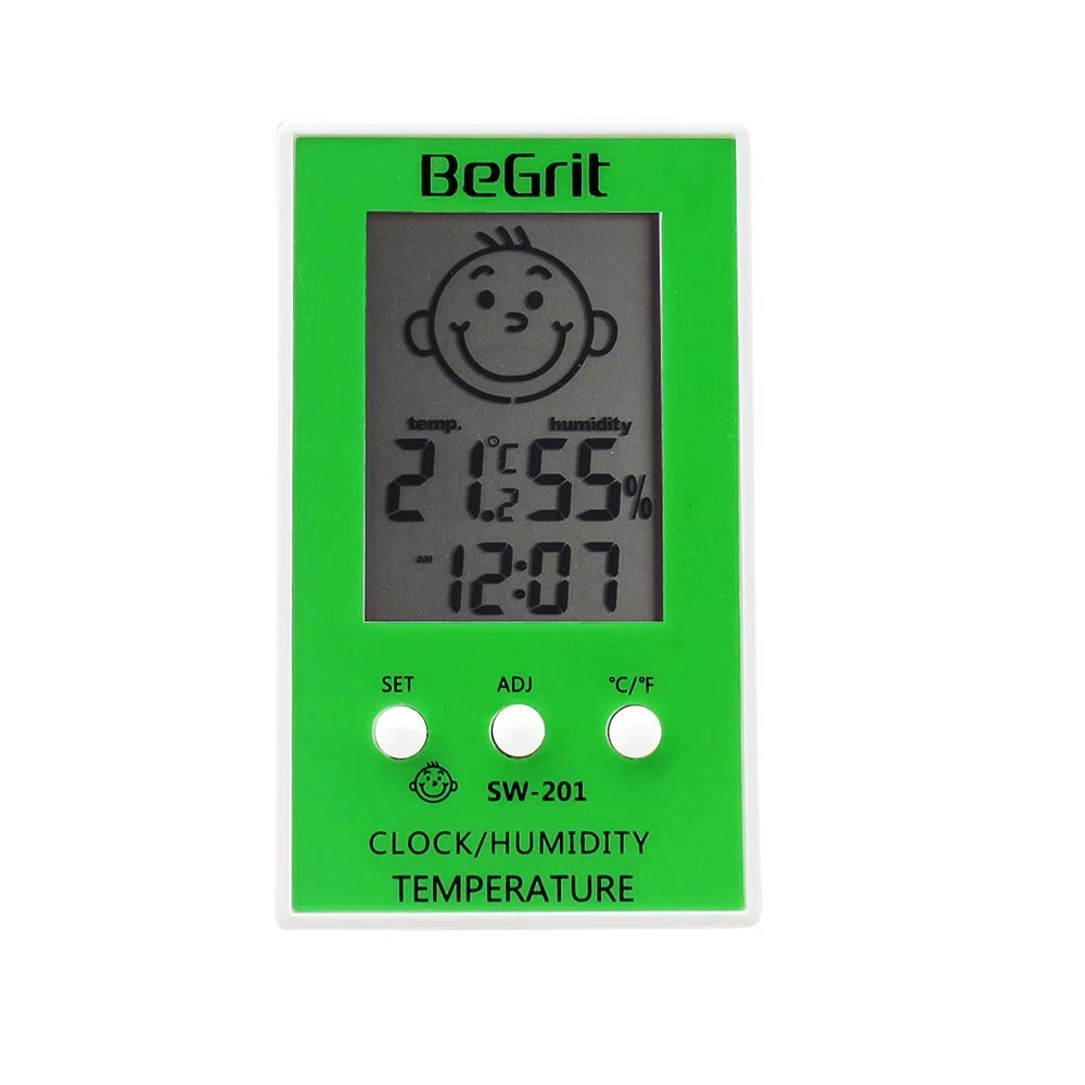BeGrit Room Hygrometer Thermometer for Baby Digital Indoor Humidity Monitor LCD Display Temperature Gauge Meter with Comfort Level Icon Standing Wall Hanging…