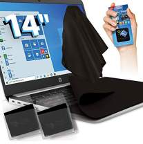Clean Screen Wizard for 14 inch Laptops - 2 XL Microfiber Keyboard Protector Cover Cloths/Keyboard Screen Protection Cleaning, Plus Screen Cleaner Sticker, Value Pack of 3 PCS