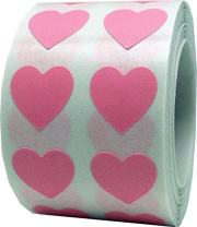 Pink Heart Stickers Valentine's Day Crafting Scrapbooking 0.50 Inch 1,000 Adhesive Stickers