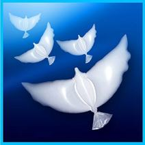 Dove BalloonsPack of 10 are 100% Biodegradable Perfect for Ceremonies Weddings Birthday and More. Huge White Balloons are Eco-Friendly and Can Float in Sky for More Than 20 Hours with Helium.