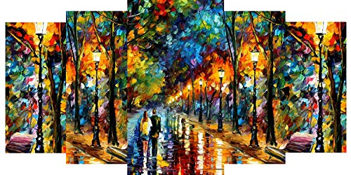 5 Sets Diamond Painting Kits Romance - DIY 5D Diamond Painting Full Square Drill Kits for Adults, Romance Under Umbrella Diamond Paintings for Wall Decor 30.7x15.75 inch