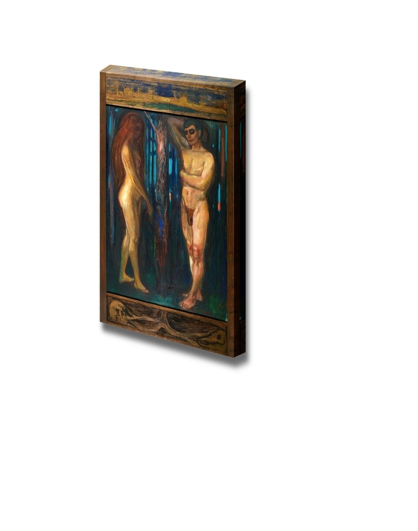 """wall26 - Metabolism by Edvard Munch - Canvas Print Wall Art Famous Painting Reproduction - 12"""" x 18"""""""