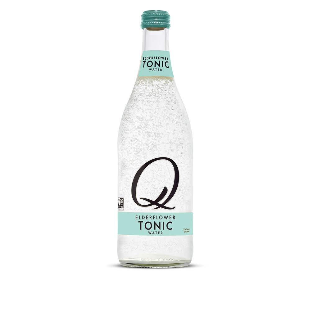 Q Mixers Elderflower Tonic Water, Premium Cocktail Mixer, 500 mL (6 Bottles)