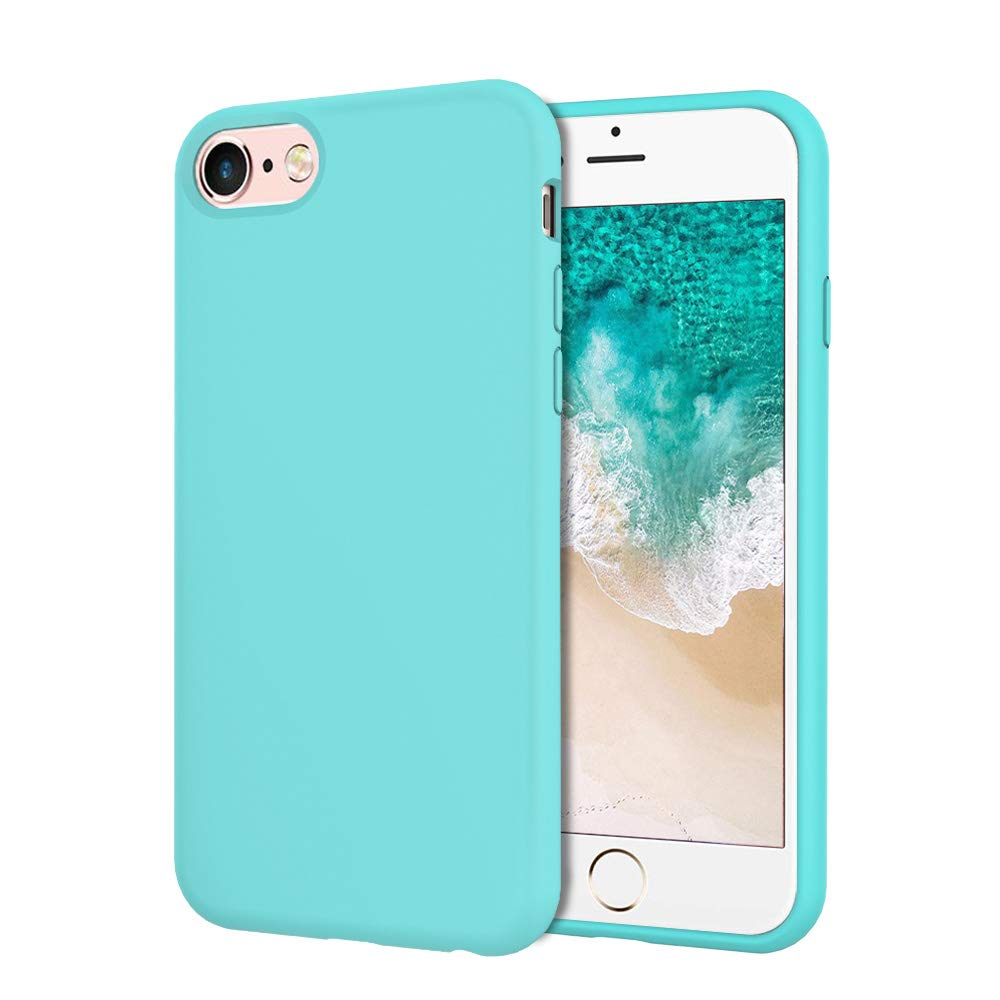 UrSpeedtekLive Slim Series iPhone 6/6s/7/8 Case, iPhone SE 2020 Case, Liquid Silicone Gel Rubber Shockproof Cover Case with Soft Microfiber Lining Full Body Protection for iPhone 6/6s/7/8, Mint