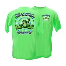 Peace Frogs Adult Teacher Frog Short Sleeve T-Shirt (Lime, Small)