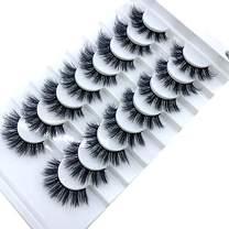 HBZGTLAD new 8 pairs of natural false eyelashes mink lashes long makeup 3d mink eyelashes extend eyelashes lashes mink(B04)