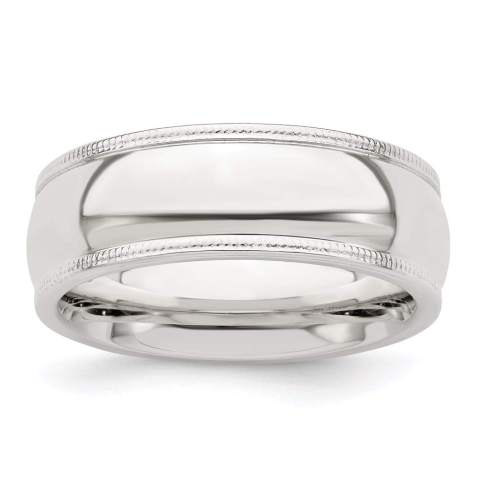 925 Sterling Silver 7mm Milgrain Comfort Fit Wedding Ring Band Classic Half Round Fine Jewelry For Women Gifts For Her