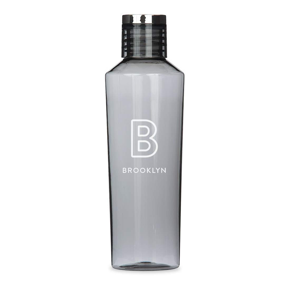 Weddingstar Personalized Tritan Plastic Water Bottle 27oz – Reusable Customizable Eco-Friendly Plastic Water Bottle – 100% BPA-Free Environmentally Friendly Canteen - Line Initial Charcoal