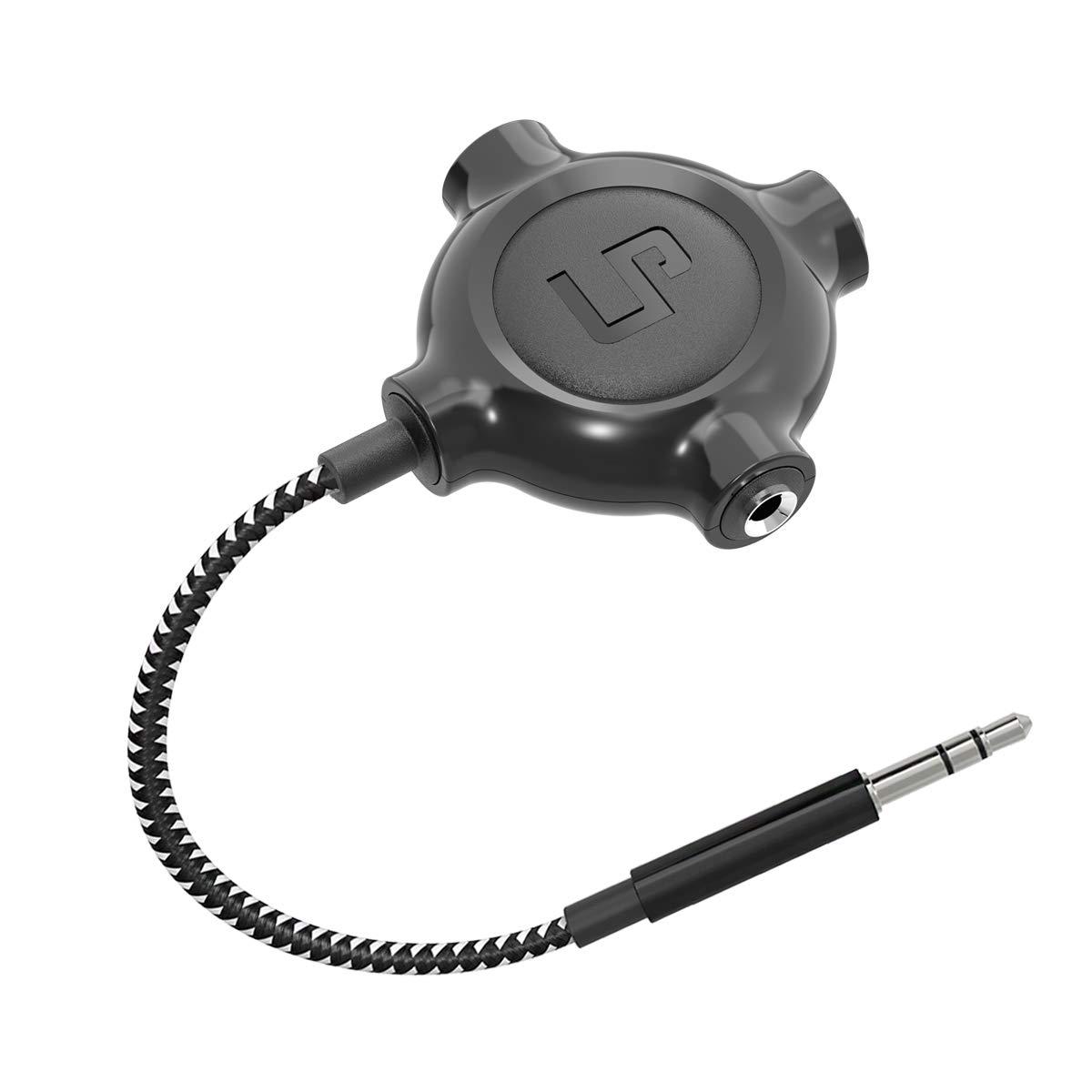 LP Headphone Splitter, Nylon-Braided 3.5mm Audio Stereo Splitter, Male to 3 Female Ports for MacBook, Mac, iPad, iPhone(≤6), iPod, Tablet, Laptop, PC, Earphone, Kindle, MP3 Player, Speaker & More