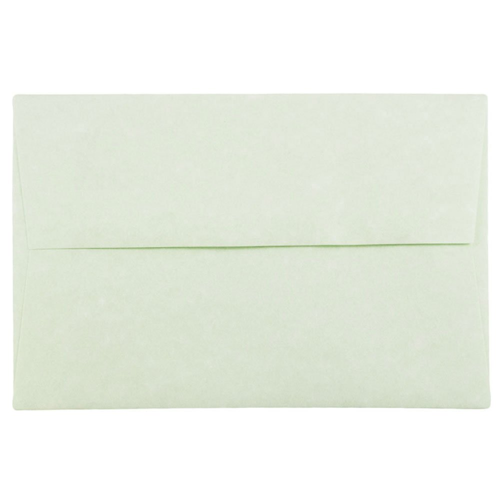 JAM PAPER A8 Parchment Invitation Envelopes - 5 1/2 x 8 1/8 - Green Recycled - 50/Pack