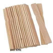 DIYARTZ Wooden Paint Stir Sticks, 100 Pack, Perfect for DIMixing Liquids. DIY Craft Sticks, Home Improvement, Natural Smooth Wood (8 Inch)