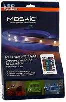 SYLVANIA General Lighting 72344 Mosaic Starter Light Kit,Four 2-Feet Color Changing LED Strips and Connector Tape Light, Multi Color